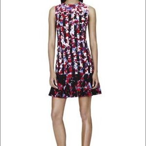 Peter Pilotto  Dress in Red Floral/Stripe Print